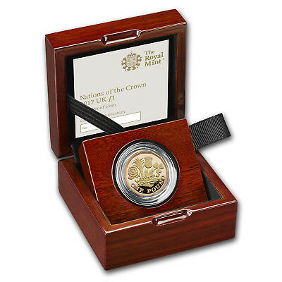 2017 Great Britain £1 Prf Gold Nations of the Crown