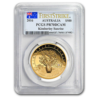 2016 AUS 2 oz Gold Kimberley Sunrise Diamond PR-70 PCGS (FS)