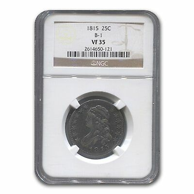 1815 Capped Bust Quarter VF-35 NGC