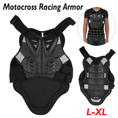 Motorcycle Riding Body Armor Motocross Racing Spine Chest Protection Jacket L-XL