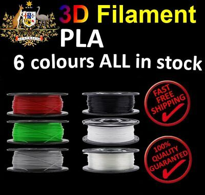 3D Printer Filament PLA 1.75mm 1kg/Roll Multiple Colours 300M MakerBot ProX FH