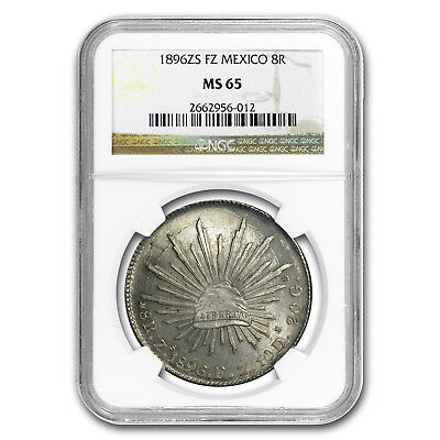 1896 Zs FZ Mexico Silver 8 Reales MS-65 NGC