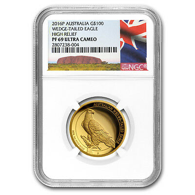 2016 Australia 1 oz Gold Wedge Tailed Eagle PF-69 NGC (HR)