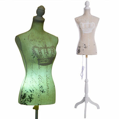 Female Mannequin Bust Window Torso Dress Form Display White w/Tripod Stand