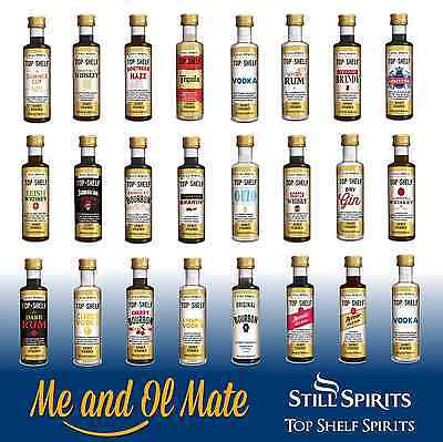 Still Spirits Top Shelf Spirit Essences Any 15 Of Choice Home Brew Spirit Making