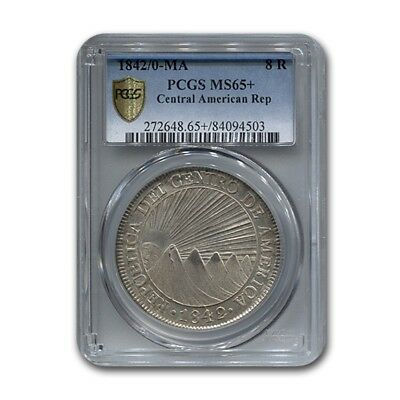 1842/0 Central American Republic 8 Reales MS-65+ PCGS