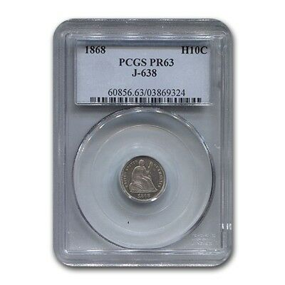 1868 Liberty Seated Half Dime Pattern PR-63 PCGS (J-638)