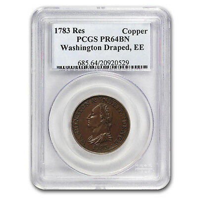 1783 Restrike Washington Draped Bust Copper PR-64 Brown PCGS