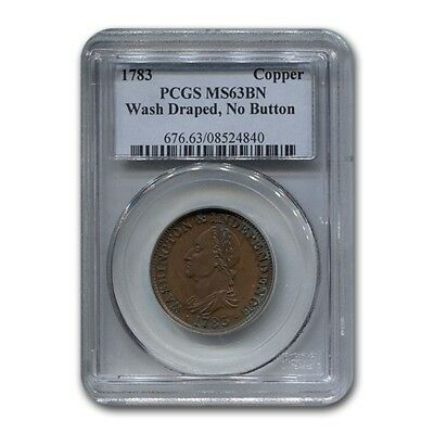 1783 Washington Copper MS-63 PCGS (Brown)