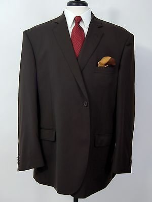 50R Givara Mens Solid Brown 150's Wool 2 Pc Suit Pants 40 x 29 - Italy made
