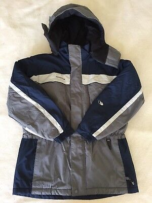 Columbia Tectonite WInter Jacket Coat Boys Size Large 14/16 Gray Blue Lined Hood