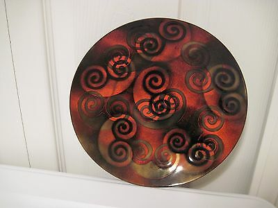 "Mid-Century Bovano Enamel on Copper 8"" Plate - Vintage"