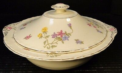 Myott Staffordshire Trouville Casserole Covered Vegetable Bowl Lid EXCELLENT!