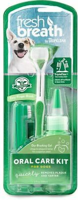 COSMOS Tropiclean Fresh Breath Plaque Remover Pet Oral Care Kit, Large NEW..