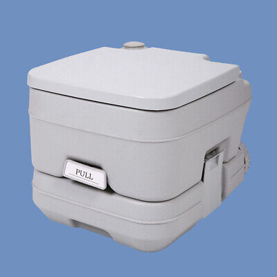 2.8 Gallon 10L Portable Toilet Travel Camping Outdoor Toilet Flush Potty Commode