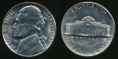United States, 1982-D 5 Cents, Jefferson Nickel - Uncirculated