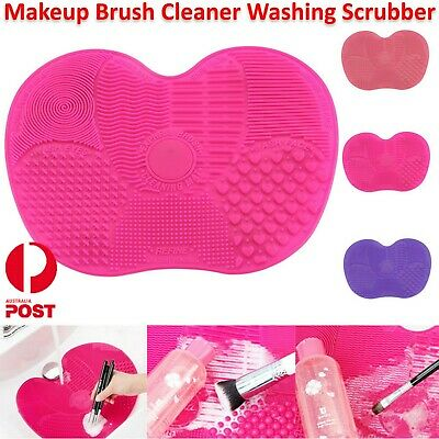 Makeup Cosmetic Silicone Brush Cleaner Washing Pad Mat Scrubber Board Cleaning