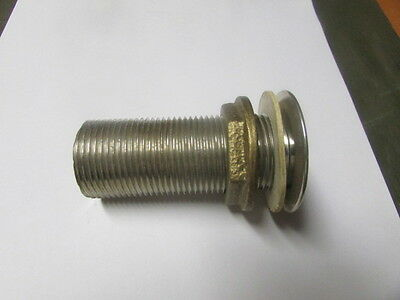 "SINK DRAIN 1"" NPS Nickel-Plated Brass W/Washer & Nut for CHG E16-4021-LW 561213"