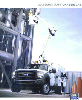 2012 FORD SUPER DUTY CHASSIS CAB BROCHURE - 28 pages covers the XL XLT LARRIAT