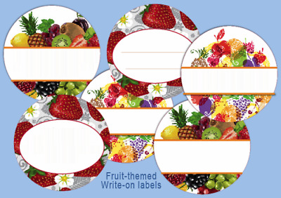 """12 Round 2"""" LABELS CUSTOM or blank Jam Jelly Fruit Canning Personalized stickers"""