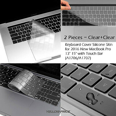 "SOFT Silicon CLEAR Keyboard Cover Skin For NEW Macbook 13"" 15"" Pro Air Retina"
