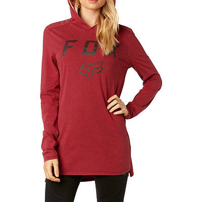 New Fox Racing Womens Certain Long-Sleeve Shirts Pullover Hooed Tops Size XS- XL
