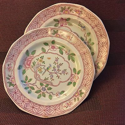 8 Adams Calyx Ware Singapore Bread & Butter Plates Excellent England