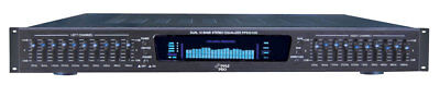 NEW Pyle PPEQ100 19'' Rack Mount Dual 10 Band 4 Input Stereo Spectrum Equalizer