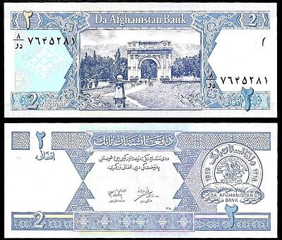 AFGHANISTAN 🇦🇫 2 Afghani Banknote, 2002, P-65, UNC World Currency
