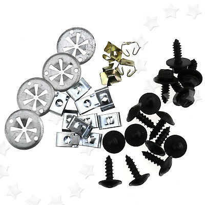 32Pcs Undertray Guard Engine Under Cover Fixing Clips Screw Set for VW GOLF MK4