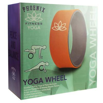 YOGA Pilates STRETCHING WHEEL With Non Slip Rubber For Balance And Flexibility