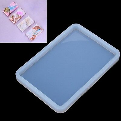 Rectangle Soft Pottery Base Mudboard Mold Silicone Jewelry Making Mould