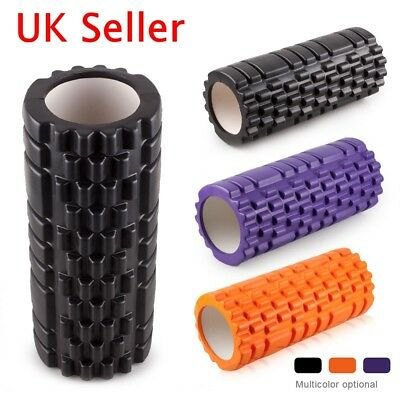 Yoga Foam Roller Injury Physio Gym Muscle Exercise Trigger Point Texture Massage