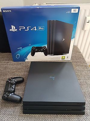 sony playstation 4 pro 1tb ps4 pro neuwertig rechnung garantie ovp eur 311 00. Black Bedroom Furniture Sets. Home Design Ideas