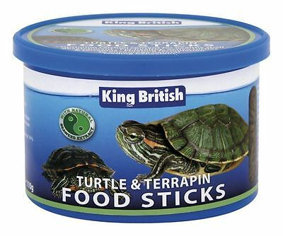 2x KING BRITISH TURTLE AND TERRAPIN FOOD STICKS 110g COMPLETE & BALANCED DIET
