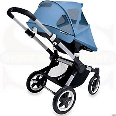 Breezy Sun Canopy Bugaboo Buffalo/Runner Ice Blue Protect Baby Away Harmful Rays