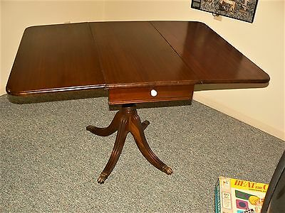 Antique Duncan Phyfe Drop Leaf Table with 4 chairs