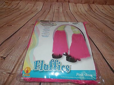 Pink Fluffies Leg Warmers Boot Covers Rave Party Halloween Flirty n Fluffy 1931