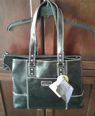NWT Franklin Covey Women's Business Laptop Tote Bag - Black Model #737510