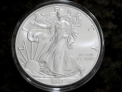 2017 American Silver Eagle 1oz Silver Coin Uncirculated No Reserve Free Shipping