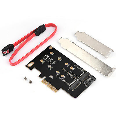 M.2 NGFF PCIe 4 LANE SSD to PCIE 3.0 x4 adapter 2 Ports for M6E samsun sg
