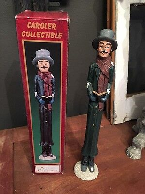 Windsor Collection Carolers Collectible Man /Dad With Book