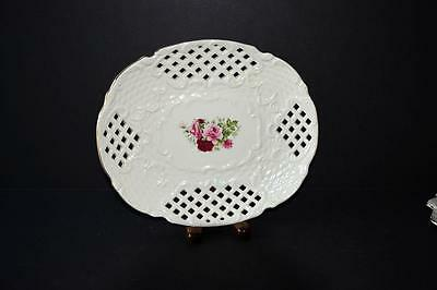 Reticulated Decorative Oval Plate - Formalities by Baum Brothers
