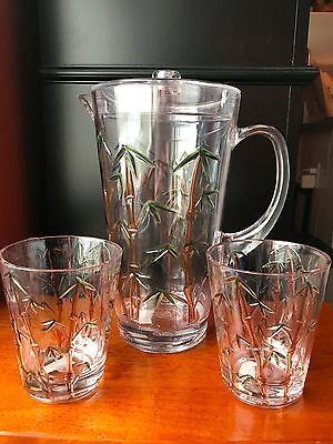 Acrylic Pitcher Set with 2 Glasses Bed Bath & Beyond Bamboo Tree Outdoor Patio