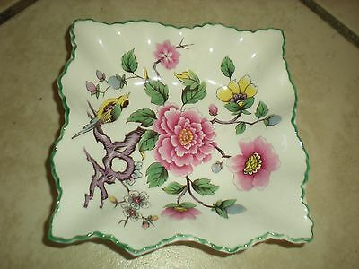 "Vintage James Kent Limited Square Plate "" Chinese Rose"" Made in England"