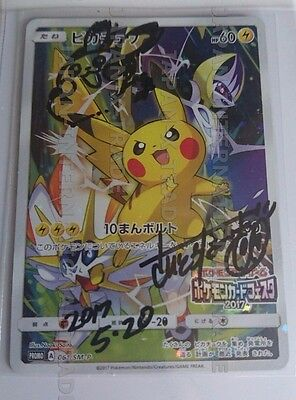 SIGNED AUTOGRAPH NAOKI SAITO Japanese battle festa promo 2017 card japan pokemon