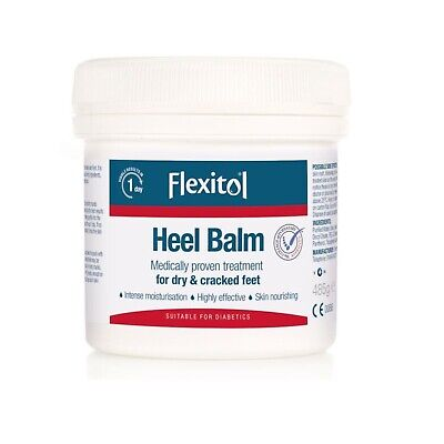 Flexitol Heel Balm 500g Cracked Heels Treatment - Tub & Lid Seal (No Blockage)