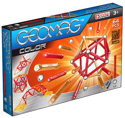 Geomag Magnetic Color 64 Piece Construction Set - For Ages 3 and Up