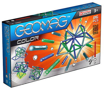 Geomag Magnetic Color 86 Piece Construction Set - For Ages 3 and Up