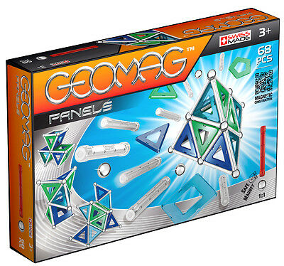 Geomag Magnetic Panels 68 Piece Construction Set - For Ages 3 and Up
